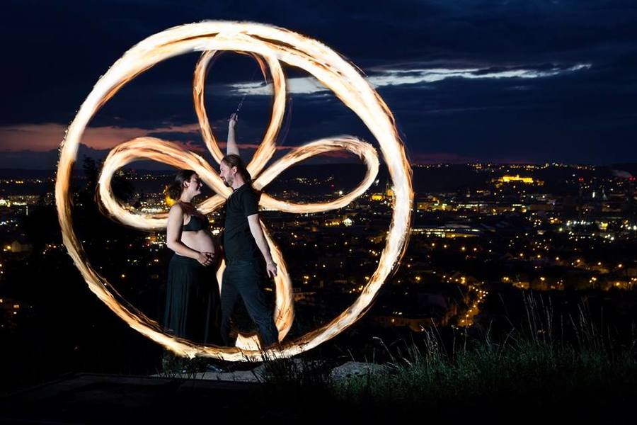 First firespinning with my son