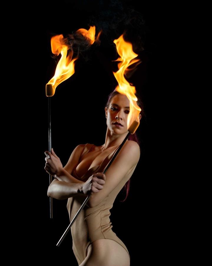 Beauty in still flame