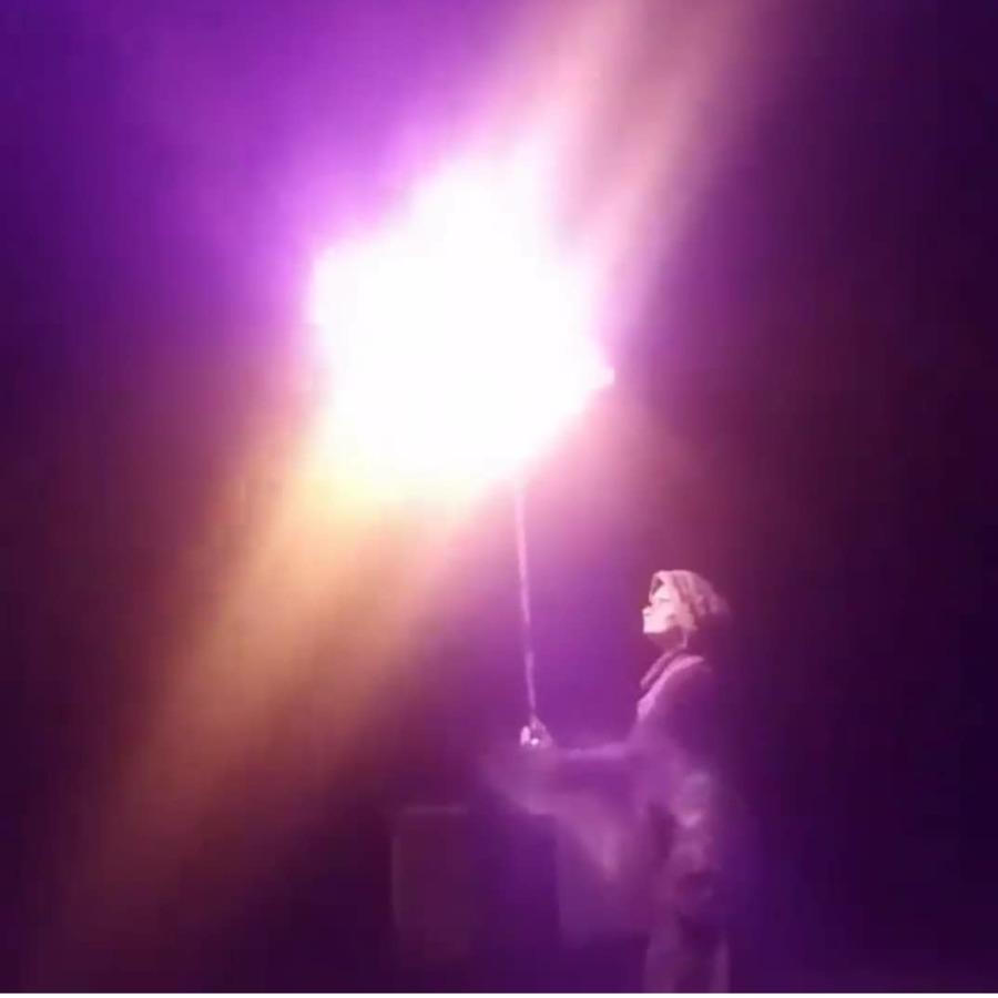Umbrella on fire...