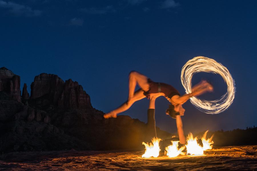 Sedona Silks on Fire