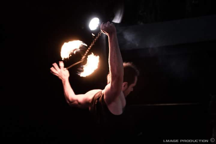 Fire poi show at Bordeaux France