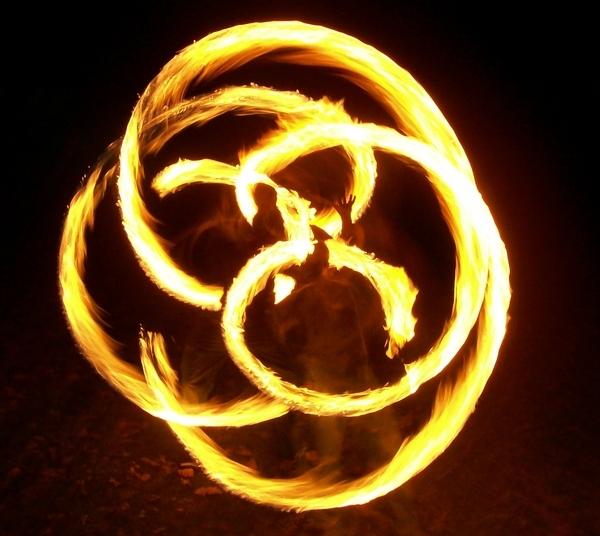 fire dragons in flight