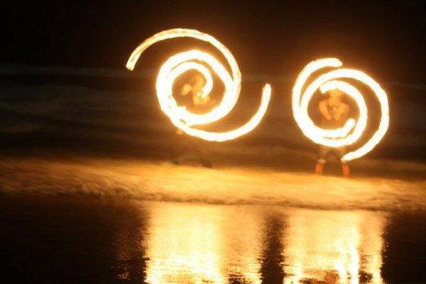 Fire Spirals in the Water