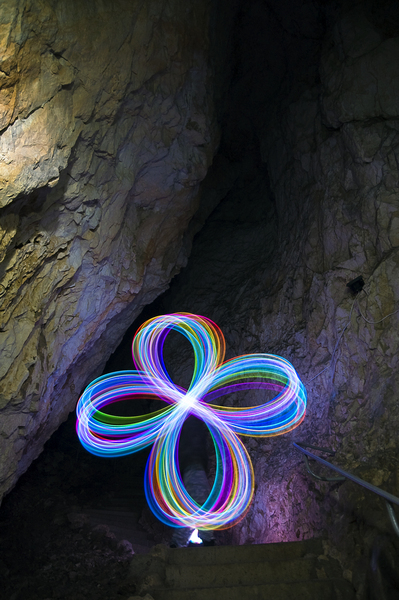 Light in cavern