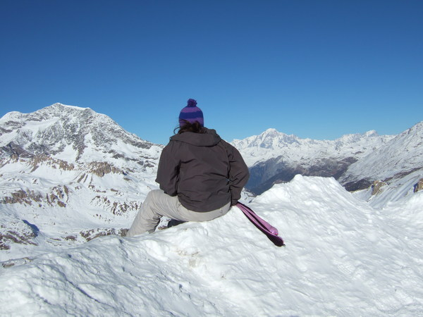 On top of the world, Tignes France