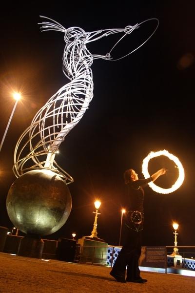 FirePoise with Hoop Lady, Belfast uploaded by _Clare_