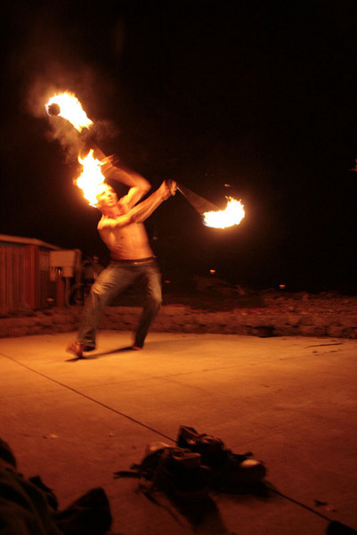 Yes I Spin Poi With My MoHawk On Fire & Yes it is Intensional