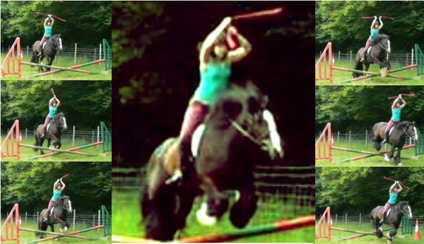 Poi on horseback