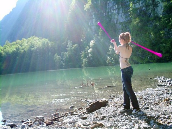 Poi in the Swiss Alps