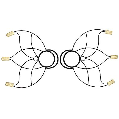 Lotus Fire Fans, Pair of Small Lotus Fire Fans with Carry Bag