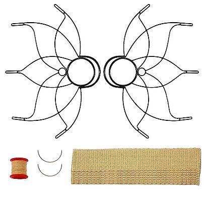 All Fans, Pair of Medium Lotus Fire Fans 50mm Wick Kit - Make Your Own