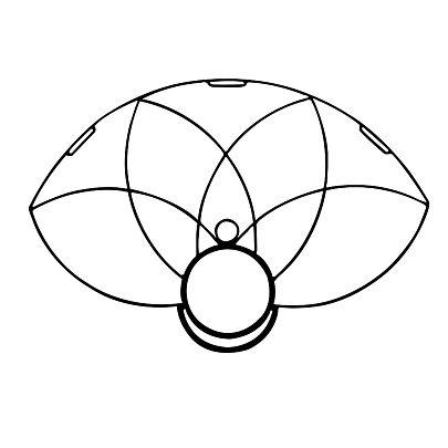 Parts, SINGLE HoP Lotus Petal Fire Fan Frame