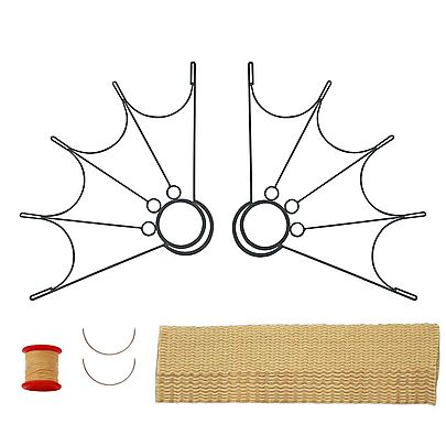 All Fans, Pair of Spider Fire Fans 2inch Wick Kit - Make Your Own