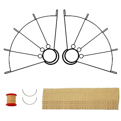 Your, Pair of Large Ring Fire Fans with 2 inch wick Kit - Make Your Own