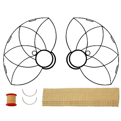 Your, Pair of Lotus Petal Fire Fans with 2 inch wick Kit - Make Your Own