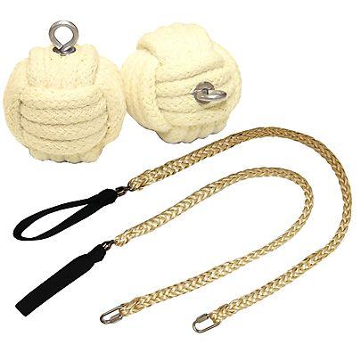 Most Loved Fire Toys, Pair of Pro Technora® Monkey Fist Fire Poi Medium