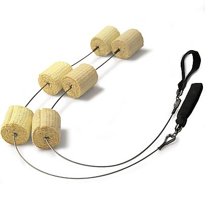 Triple bearing diaabolo, Pair of Triple Headed Wire Fire Poi