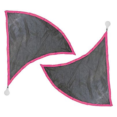 Poi Flags, Pair of Dragon Wing Poi Flags with WT4 Silicone Knobs