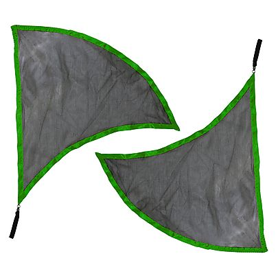 Flag Poi, Pair of Dragon Wing Poi Flags with V2 Handles