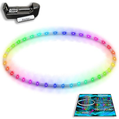 Exercise Hula Hoop with Beginner DVD 1, UltraHoop Shuffle - Smart LED Hoop (Deluxe PolyPro)
