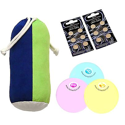 LED / Glow Balls, Multi-Function LED Three Juggling Ball Set with Carry Bag