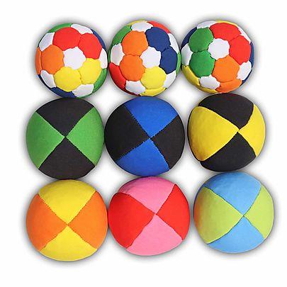 Beginner Ball Sets, Best Juggling Balls set of 9 with carry bag