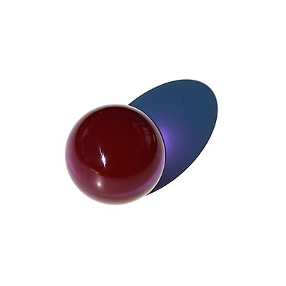 Single HoP Starter Juggling Club Green, Acrylic Contact Juggling Ball Color - 3 1/3 Inch (85mm)