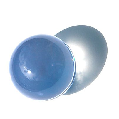 Pair of wooden ball handle with Swivels, Acrylic Contact Juggling Ball Clear UV - 95mm (3 3/4 Inch)