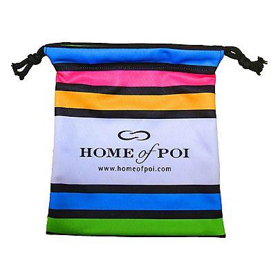 Length of 25 x 1 8 inch 65mm x 32mm Kevlar Wick, Stripey Soft Poi Bag