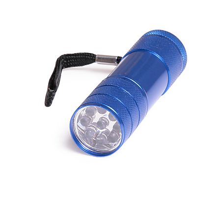 Torches, Single 9 LED Flashlight with batteries