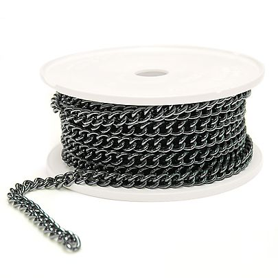 Chain Poi Cords, Length of 3/32 Inch (2.4mm) Oval Twist Welded Chain