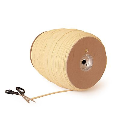 Length of 2 x 1 8 inch 50mm x 32mm Kevlar Wick, 100 ft (30m) roll 1/4 inch (6.4mm) Braided Kevlar® Rope