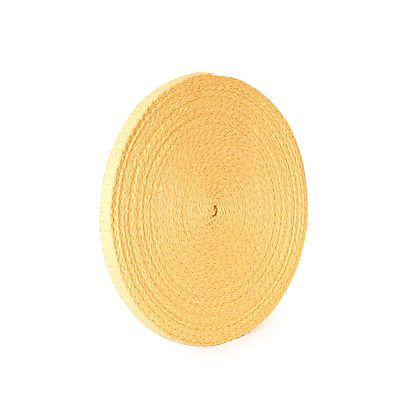 Length of 4 x 1 16 inch 100mm x 16mm THIN Kevlar Wick, 30m (100ft) roll of 19mm x 3.2mm (3/4 x 1/8 inch) Kevlar ® Wick